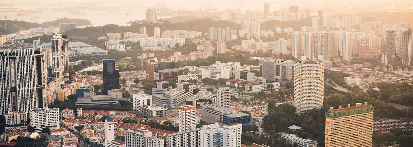 singapore old skyline